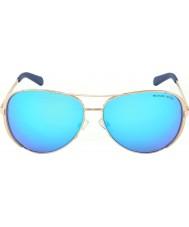 Michael Kors Mk5004 59 chelsea steg guld 100325 blå speglad solglasögon