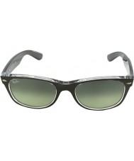 RayBan Rb2132-52 ny Wayfarer borstat brons på transparenta 6143-71 solglasögon