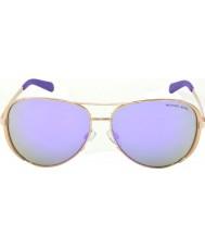 Michael Kors Mk5004 59 chelsea steg guld 10034v lila speglade solglasögon