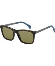 Tommy Hilfiger Mens th 1435-s 0EX a6 Dark Havana rutenium solglasögon