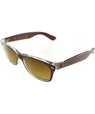 RayBan RB2132 52 nya Wayfarer borstad brun på transparenta 614585 solglasögon